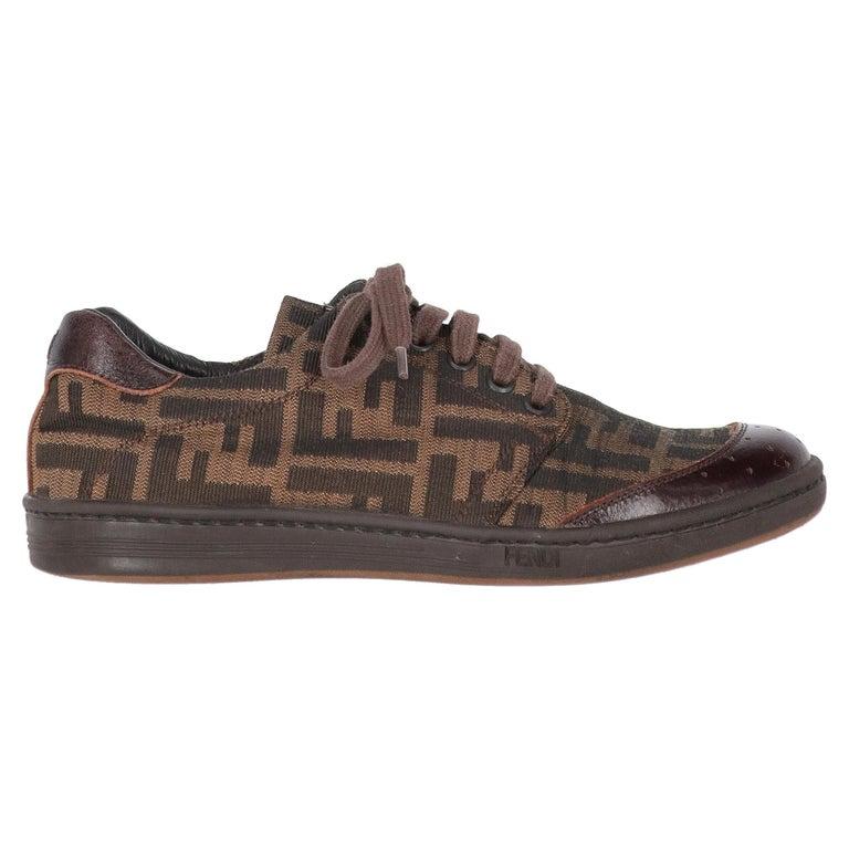 2000s Fendi Monogram Lace-up Shoes For Sale