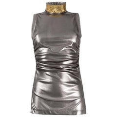 2000s Gianfranco Ferré Metallic Silver Top