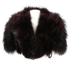 2000s Gianfranco Ferrè  Purple Fox Fur Cape