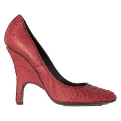 2000s Gianfranco Ferré Red Leather Pumps
