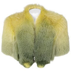 2000s Gianfranco Ferré Shadow Degradé Fox Fur Cape