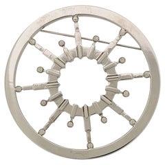 2000s Gianfranco Ferré Ship's Wheel Brooch