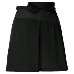 2000s Giorgio Armani Black Wool Skirt