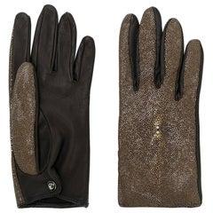 2000s Giorgio Armani Leather Gloves