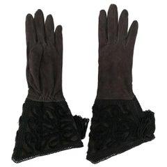 2000s Giorgio Armani Suede Gloves