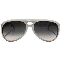 2000s Gucci Aviator White Sunglasses