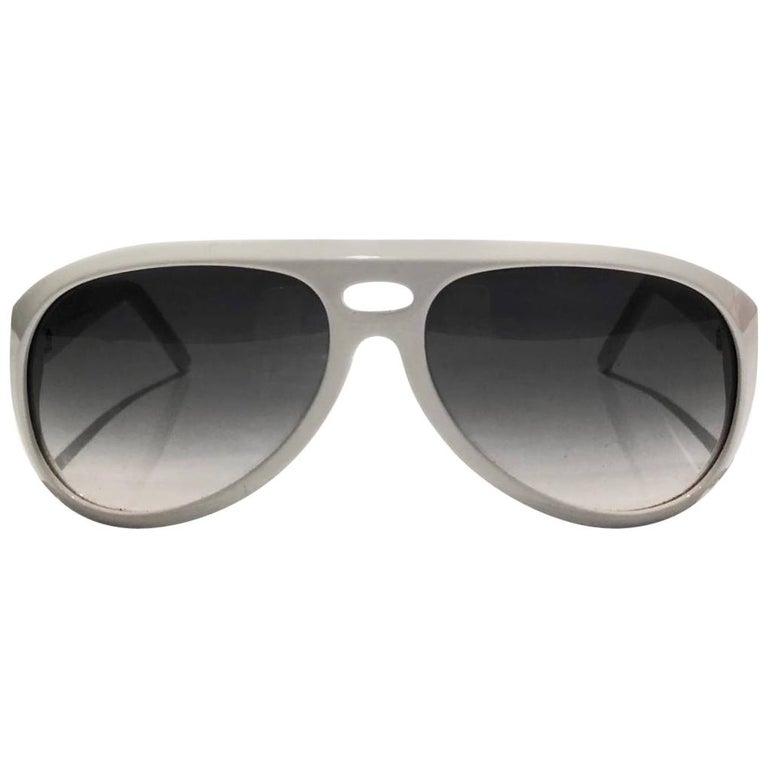 2000s Gucci Aviator White Sunglasses  For Sale