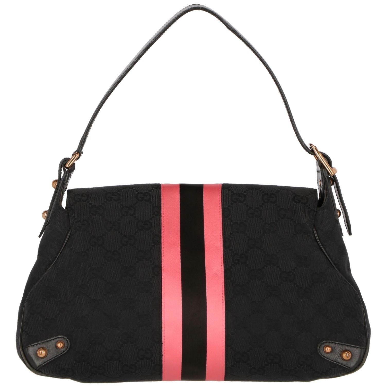 7767c0b2dc4 2000s Gucci black monogram bag at 1stdibs