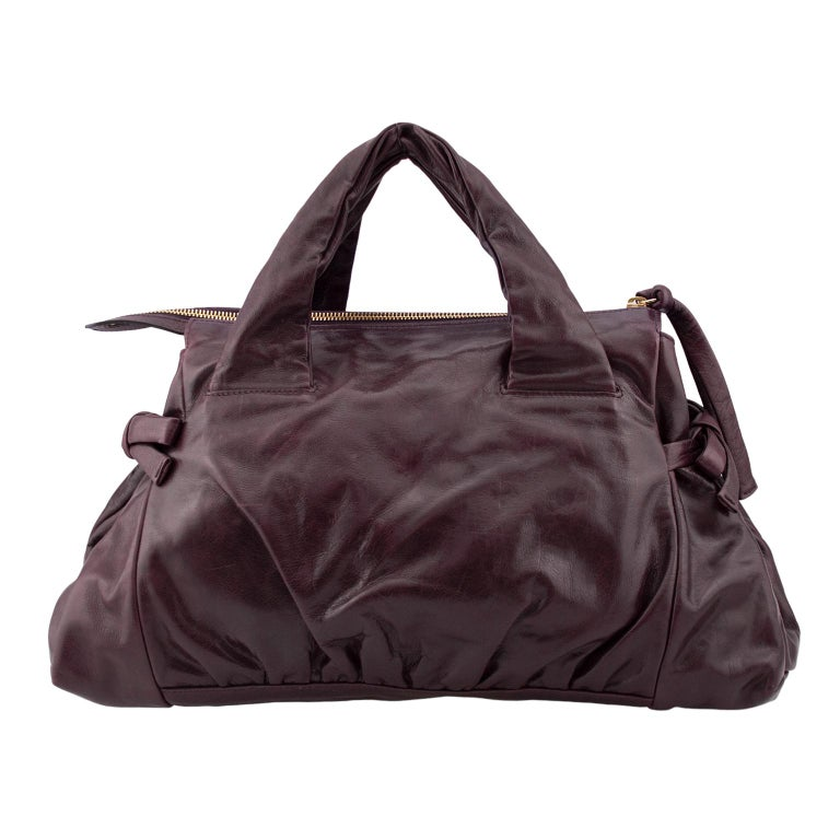 Black 2000s Gucci Hysteria Collection Maroon Leather Bag   For Sale