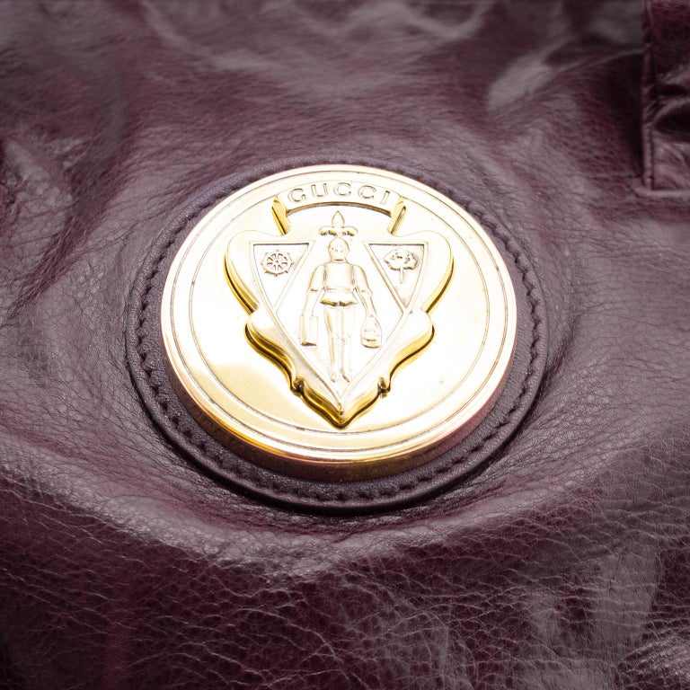 2000s Gucci Hysteria Collection Maroon Leather Bag   In Good Condition For Sale In Toronto, Ontario