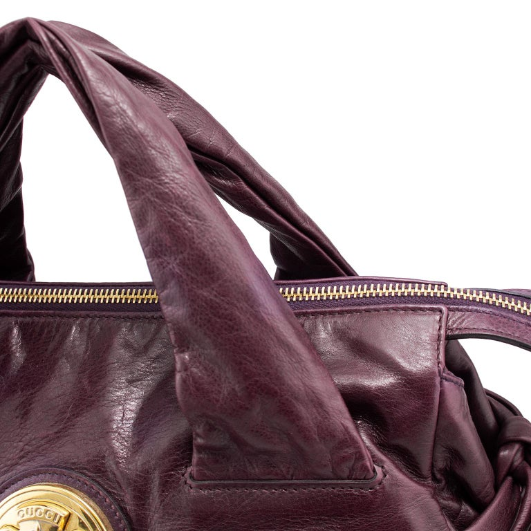 2000s Gucci Hysteria Collection Maroon Leather Bag   For Sale 1