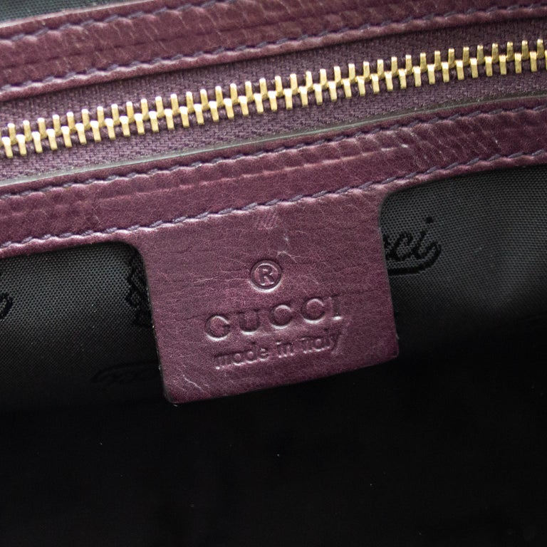 2000s Gucci Hysteria Collection Maroon Leather Bag   For Sale 2