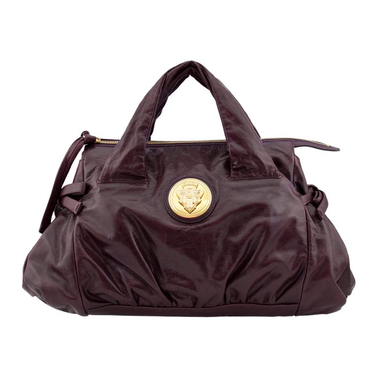 2000s Gucci Hysteria Collection Maroon Leather Bag   For Sale