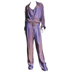 2000s  New Gucci Silk Jumpsuit