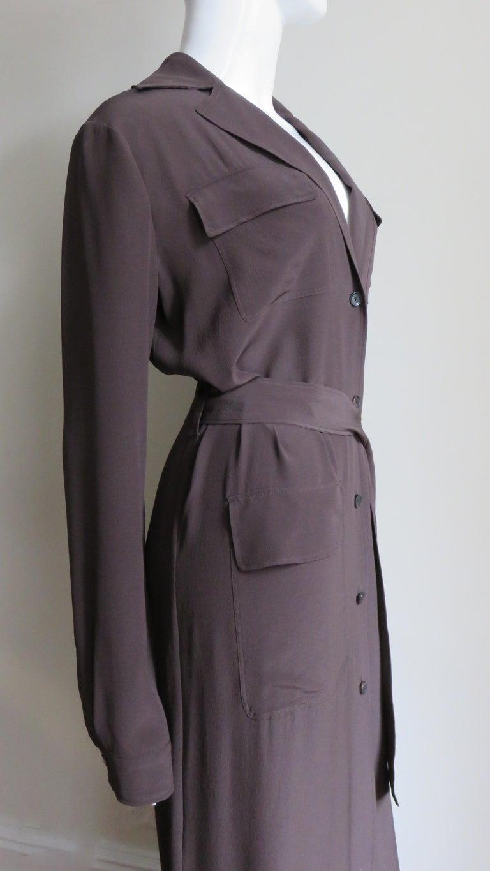 2000s Gucci New Silk Shirtwaist Maxi Dress For Sale 5