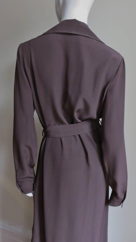 2000s Gucci New Silk Shirtwaist Maxi Dress For Sale 6