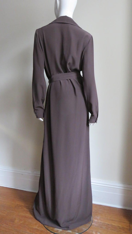 2000s Gucci New Silk Shirtwaist Maxi Dress For Sale 7