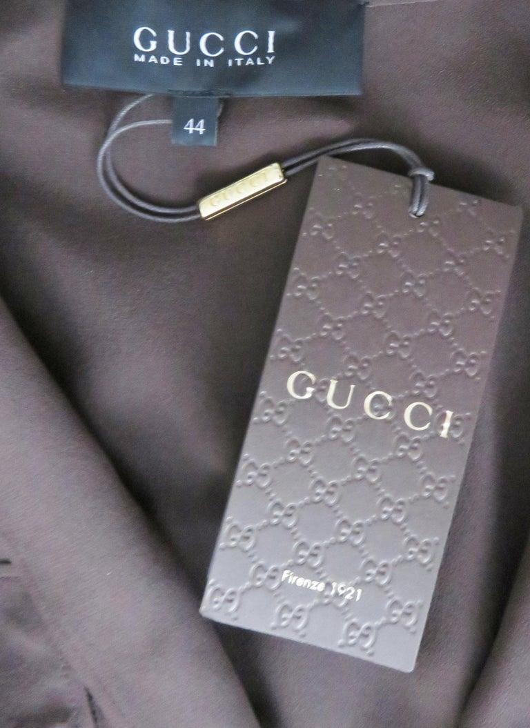 2000s Gucci New Silk Shirtwaist Maxi Dress For Sale 8