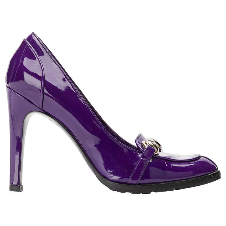 2000s Gucci Purple Pumps For Sale
