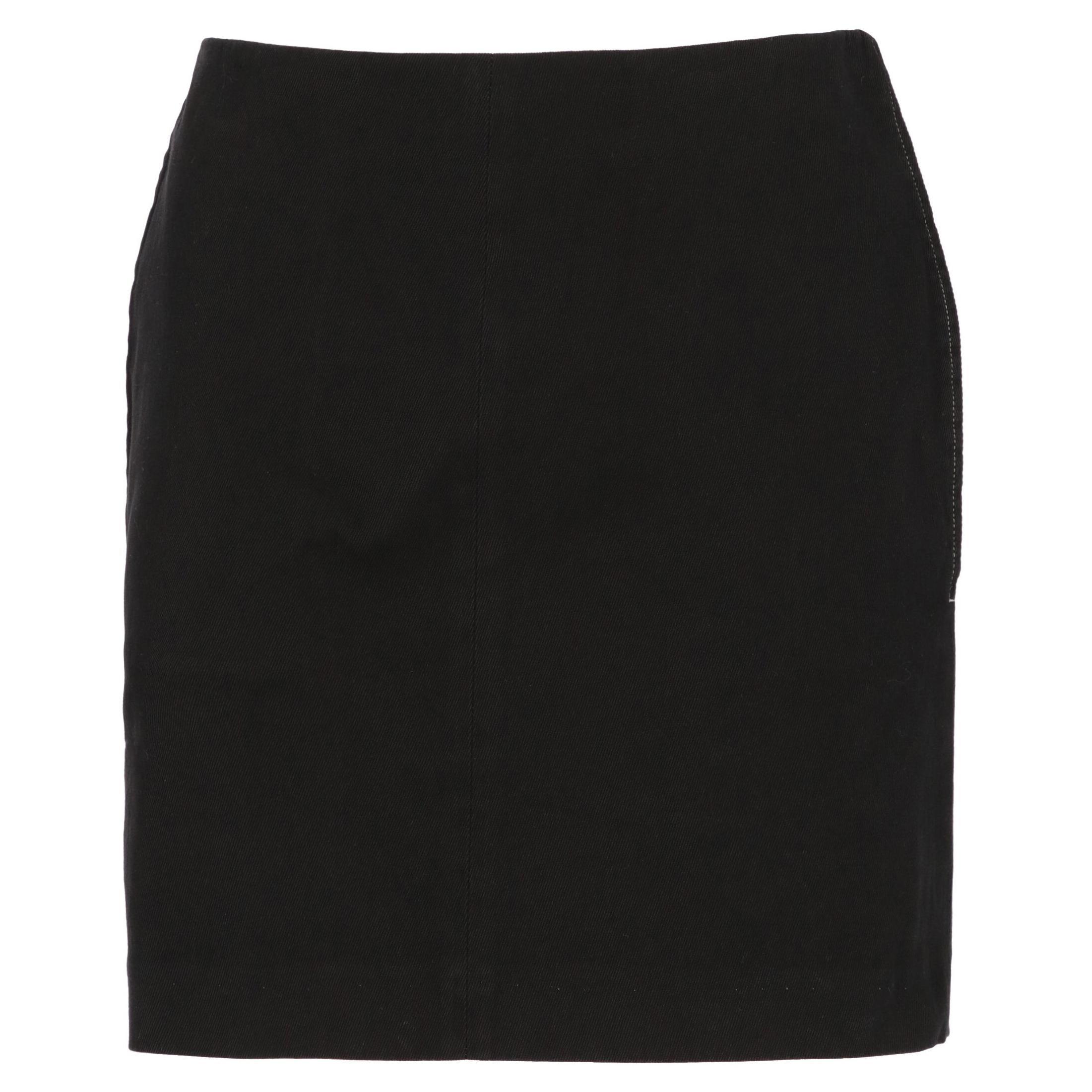 2000s Helmut Lang Black Mini Skirt