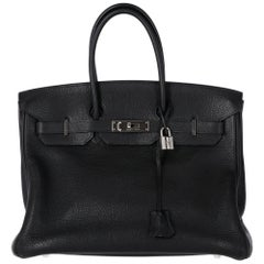 2000s Hermès 35 cm Black Birkin Bag