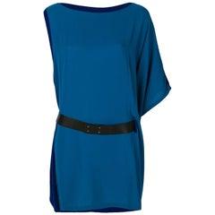 2000s Hermès Asymmetric Belted Dress