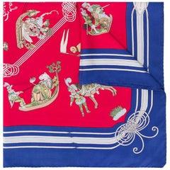 "2000s Hermès ""Les Fantaisies Du Roy"" Silk Scarf"