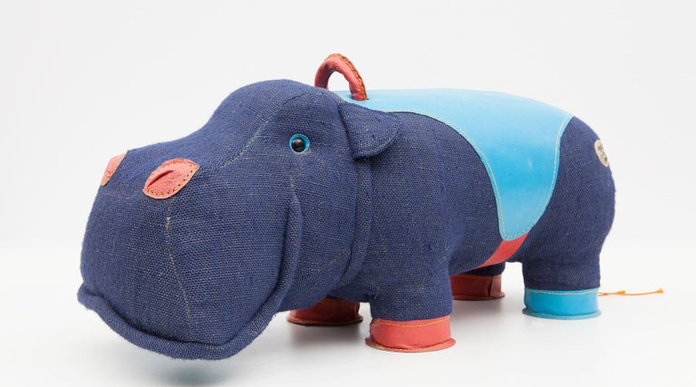 2000s High-Quality Children Toy 'Hippo' by German Renate Müller 'a' For Sale 8