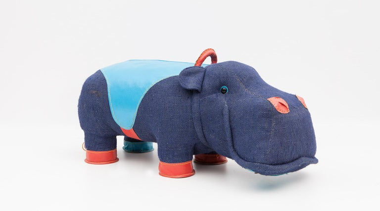 Jute 2000s High-Quality Children Toy 'Hippo' by German Renate Müller 'a' For Sale