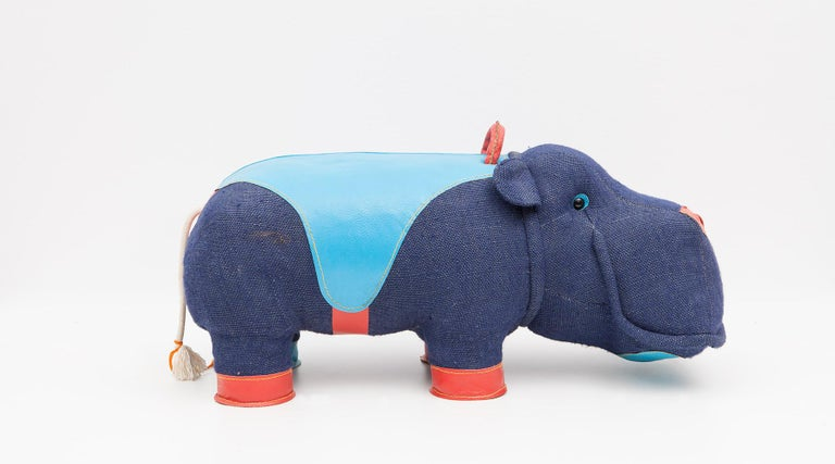 2000s High-Quality Children Toy 'Hippo' by German Renate Müller 'a' For Sale 1