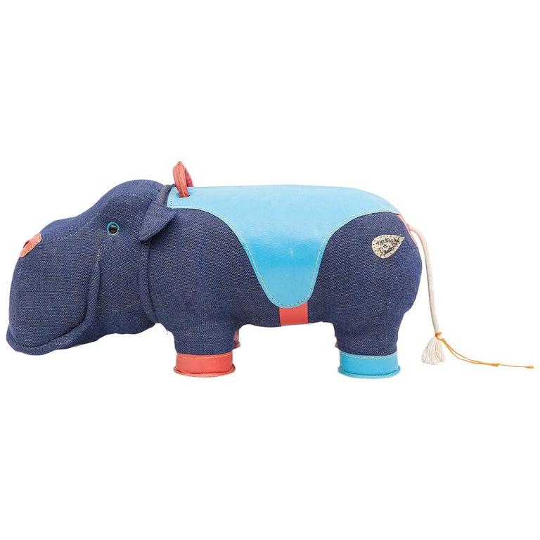 2000er Jahre, qualitativ hochwertiges Kinder Spielzeug 'Hippo' von Renate Müller 'a', Deutschland 1