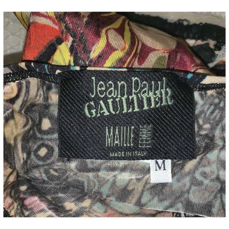 Brown 2000's Jean Paul Gaultier Cut-Out Corset Ties Butterfly Strapless Top  Skirt Set