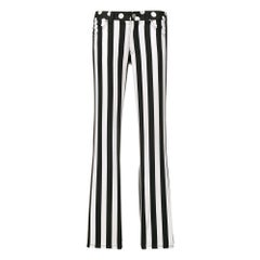 2000s Junya Watanabe Comme des Garcons Black & White Striped Trousers