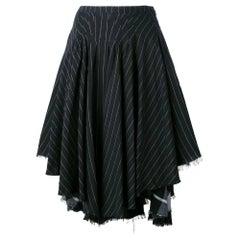 2000s Kenzo Asymmetrical Black Skirt