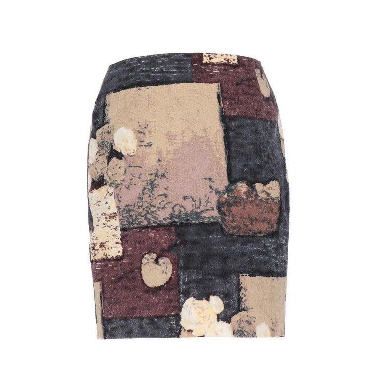 Gray 2000s Kenzo Printed Skirt For Sale