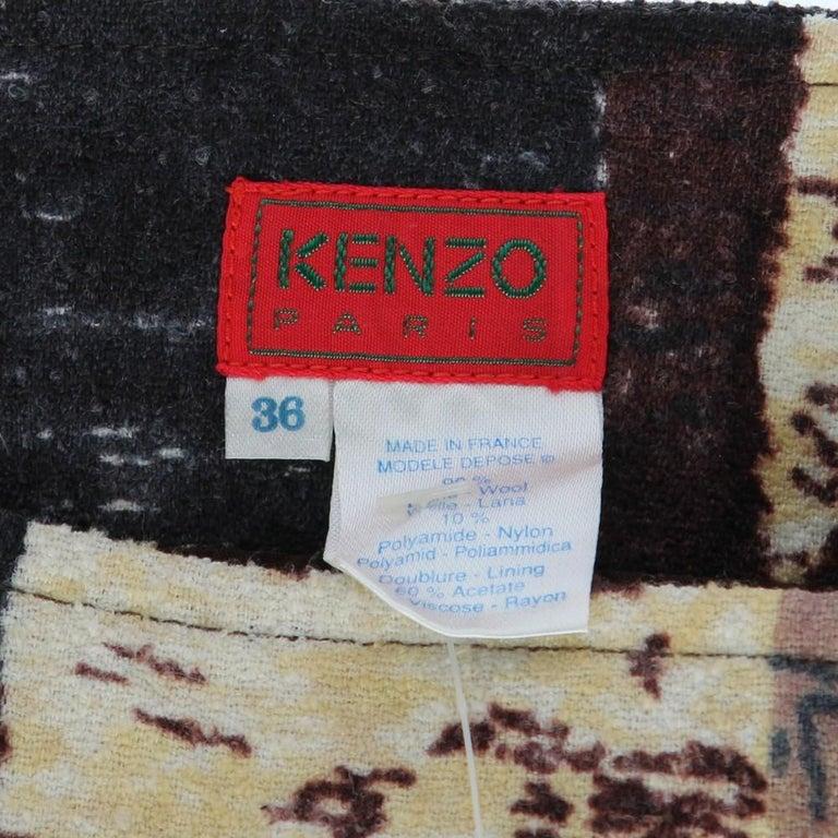 2000s Kenzo Printed Skirt For Sale 1
