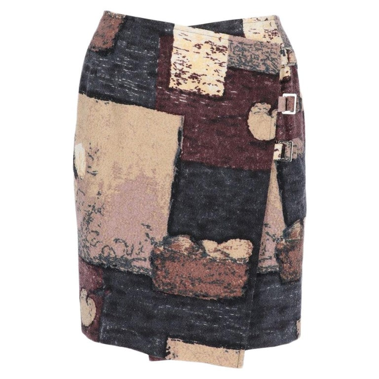 2000s Kenzo Printed Skirt For Sale
