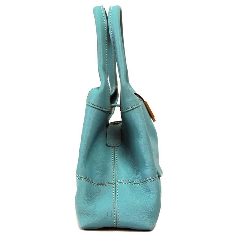 Blue 2000s Loro Piana Turquoise Purse For Sale