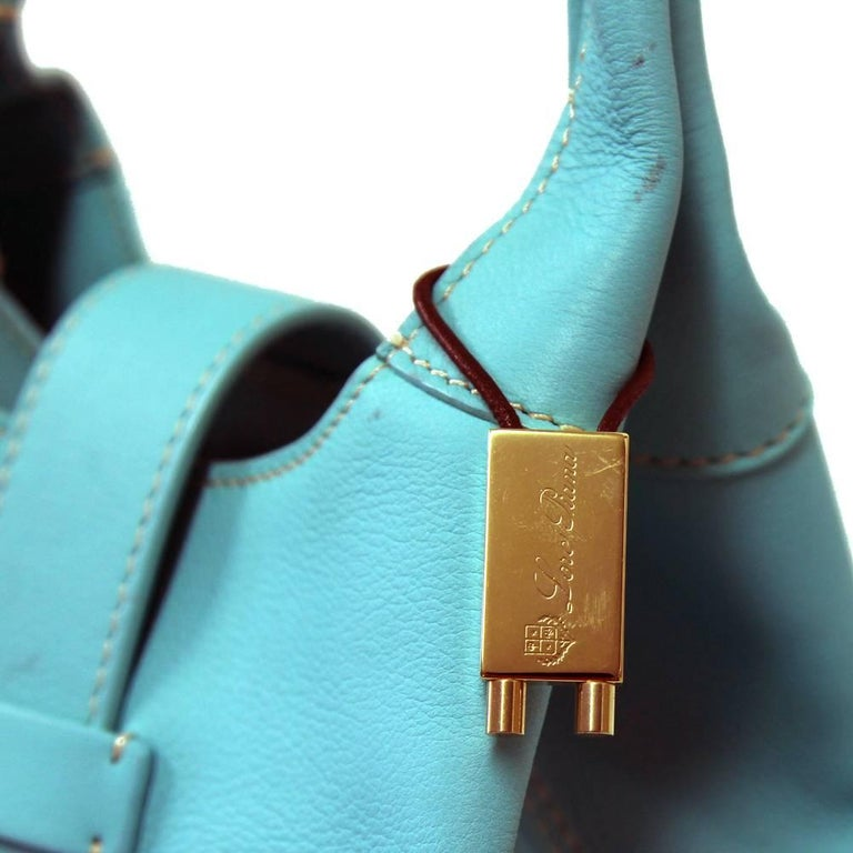 2000s Loro Piana Turquoise Purse In Excellent Condition For Sale In Lugo (RA), IT