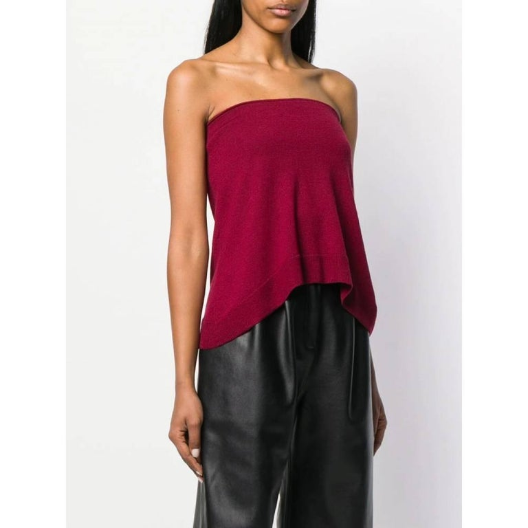 Red 2000s Maison Martin Margiela Knit Top For Sale