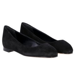 2000s Manolo Blahnik Black Ballerina Shoes