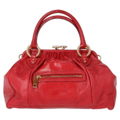 2000s Marc Jacobs Red Lizard Tejus Handbag