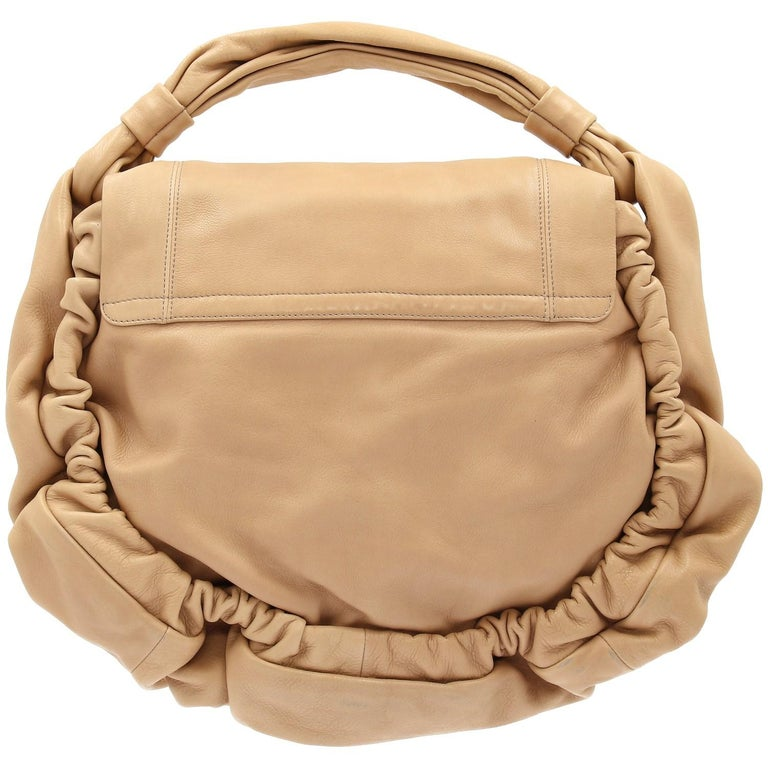 2000s Marni Beige Leather Design Bag In Good Condition For Sale In Lugo (RA), IT