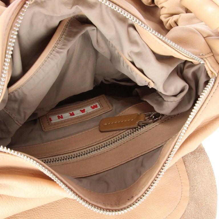 2000s Marni Beige Leather Design Bag For Sale 1