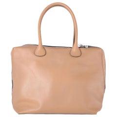 2000s Marni Beige Leather Tote Bag