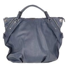 2000s Marni Blue Leather Tote Bag