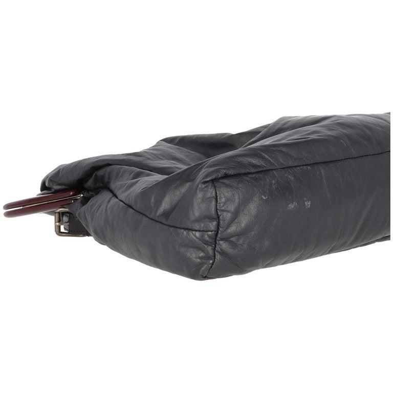 2000s Marni Blue Nappa Leather Tote Bag For Sale 1