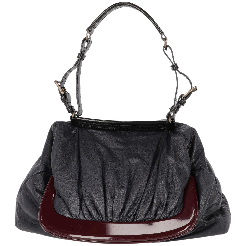 2000s Marni Blue Nappa Leather Tote Bag