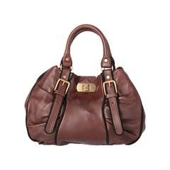 2000s Marni Brown Leather Bag