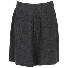 2000s Marni Dark Grey Wool Skirt